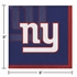 Blue, red and white New York Giants Beverage Napkins sold in quantities of 16 / pkg, 12 pkgs / case