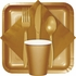 Glittering Gold Beverage Napkins 3 ply 500 ct