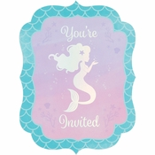 Iridescent Mermaid Party Invitations 48 ct
