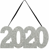 2020 Glitter Hanging Signs 12 ct