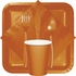 Pumpkin Spice Orange Dinner Napkins 3 Ply 250 ct