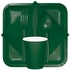 Touch of Color Hunter Green Square Dessert Plates in quantities of 18 / pkg, 10 pkgs / case
