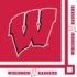 Red and white University of Wisconsin Beverage Napkin sold in quantities of 20 / pkg, 12 pkgs / case