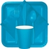 Touch of Color Turquoise Bulk Plastic Spoons in quantities of 50 / pkg, 12 pkgs / case