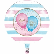 Gender Reveal Balloons Mylar Balloons 10 ct