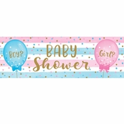 Gender Reveal Balloons Large Banners 6 ct