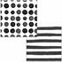 Black Licorice Dots and Stripes Beverage Napkins 288 ct