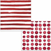 Garnet Dots and Stripes Luncheon Napkins 192 ct
