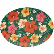 Tropical Flowers Plastic Trays 12 ct