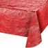 Red Metallic Tablecloths sold in quantities of  1 / pkg, 12 pkgs / case