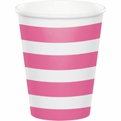 Candy Pink Polka Dots and Stripes Paper Cups 96 ct
