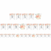 Country Floral Wedding Banners 12 ct