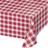 Red Gingham Plastic Tablecloths 12 ct