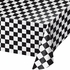 Black Check Plastic Tablecloths 12 ct
