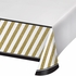 Black and Gold Plastic Tablecloths 6 ct