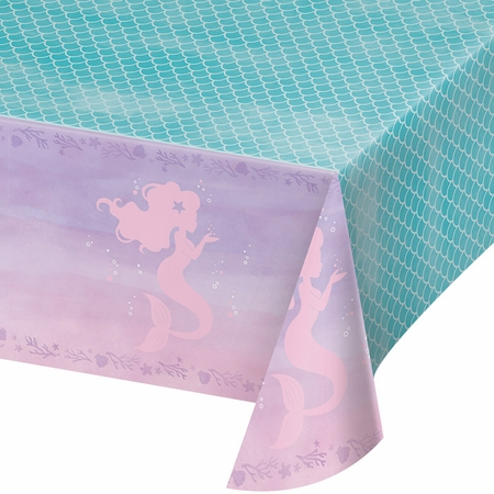 Iridescent Mermaid Party Plastic Tablecloths 6 ct