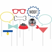 Dog Party Photo Booth Props 60 ct