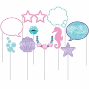 Iridescent Mermaid Party Photo Booth Props 60 ct