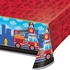 Fire Truck Plastic Tablecloths 6 ct