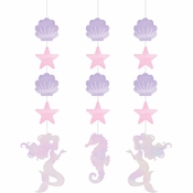 Iridescent Mermaid Party Hanging Decorations 36 ct