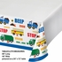Blue and white Traffic Jam Tablecloths sold in quantities of 1 / pkg, 12 pkgs / case