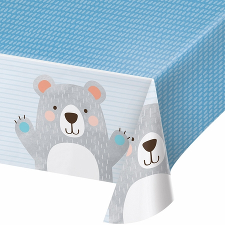 Bear Party Plastic Tablecloths 6 ct