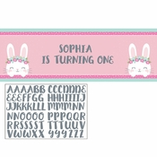 Bunny Party Large Banners 6 ct