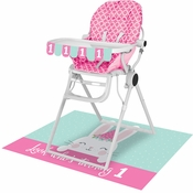 Bunny Party 1st Birthday High Chair Kits 6 ct