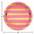Candy Pink and Gold Foil Striped Dinner Plates 96 ct
