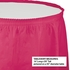Touch of Color Hot Magenta Plastic Tableskirt in quantities of 14 feet x 29 inches