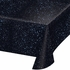 Black and blue Space Blast Tablecloths are sold in quantities of 1 / pkg, 6 pkgs / case