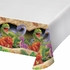 Green, orange and purple Dino Blast Tablecloths sold in quantities of 1 / pkg, 6 pkgs / case.