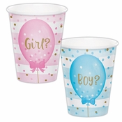 Gender Reveal Balloons Cups 96 ct