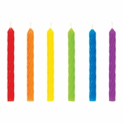 Rainbow Spiral Candles 288 ct
