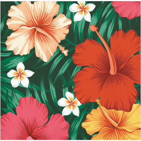 Tropical Flowers Beverage Napkins 192 ct