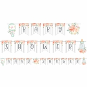 Country Floral Baby Shower Banners 12 ct