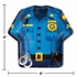 Police Party Uniform Dinner Plates 96 ct