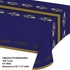 Purple and gold Baltimore Ravens Tablecloths are sold 1 / pkg, 12 pkgs / case