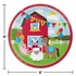 Red and green Farmhouse Fun Dinner Plates are sold in quantities of 8 / pkg, 12 pkgs / case