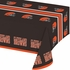Orange and brown Cleveland Browns Tablecloths are sold 1 / pkg, 12 pkgs / case