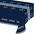 Blue and silver Dallas Cowboys Tablecloths are sold 1 / pkg, 12 pkgs / case