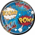 Superhero Slogans Dinner Plates 96 ct