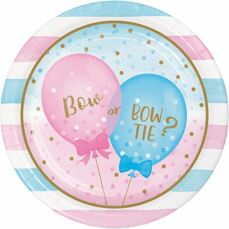 Gender Reveal Balloons Dinner Plates 96 ct