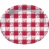 Red Gingham Oval Plates 96 ct