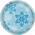 Snowflake Swirls Dinner Plates 96 ct
