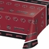 Black and red University of South Carolina Tablecloths sold in quantities of 1 / pkg, 12 pkg / case