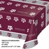 Maroon and white Texas A&M University Tablecloths sold in quantities of 1 / pkg, 12 pkgs / case