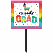 Fiesta Fun Grad Yard Signs 6 ct