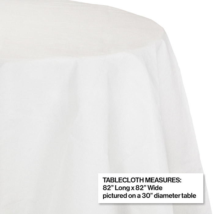 Bulk White Octy Round Paper Tablecloths, Round Paper Table Covers White