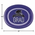 Graduation School Spirit Purple Oval Plates